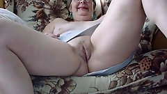 Impressive old chick exposing her hot curves on cam