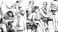 Art - Vintage drawings mature BDSM torture and humiliation