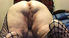 Voluptuous old babe is playing herself