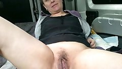 Immoral mature gilf playing alone