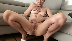 Concupiscent mature MILFs playing with their twat
